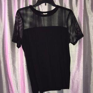 Black Partly Mess T-Shirt